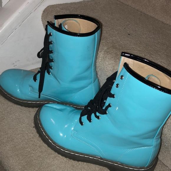 rag stock Shoes | Blue Boots | Poshmark